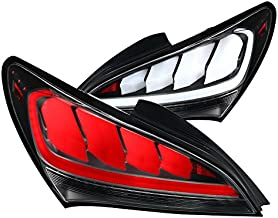 Fit Hyundai Genesis Coupe 2Dr Black Full LED Sequential Tail Lights Brake Lamps