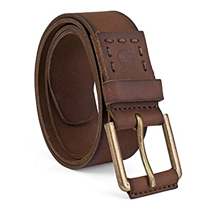 Timberland Men's Big and Tall Casual Leather Belt, Brown, 56