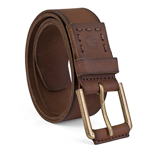 Timberland Men's 40Mm Pull Up Leather Belt, Brown, 40