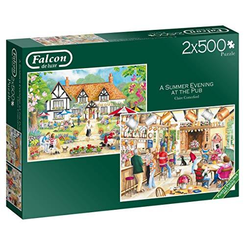 Falcon de luxe 11242 puzzel, zomeravond in de pub, 2 x 500 delen