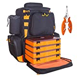 Best Fishing Backpacks - etacklepro Fishing Backpack Waterproof Tackle Bag with Protective Review