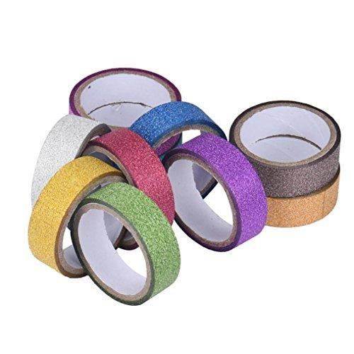 Paillettes Washi papier collant masquage ruban adhésif étiquette DIY Craft Décoration