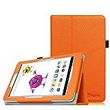 Fintie Hülle Hülle für Odys Junior Tab 8 Pro - Slim Fit Folio Kunstleder Schutzhülle Cover Tasche mit Ständerfunktion & Stylus-Halterung für Odys Junior Tab 8 Pro 20,3cm (8 Zoll) Tablet-PC, Orange