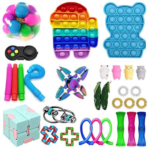 TBEONE Sensory Toys Bundle Stress Relief Juguetes de mano para ansiedad Niños Adultos Juguetes calmantes para TDAH autismo