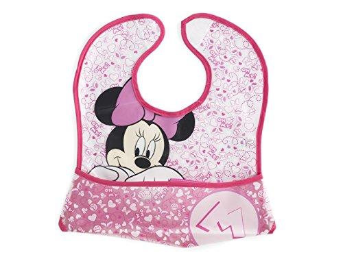 Lulabi Disney Minnie, Bavaglino, Plastica, 30x28 cm, Rosa, 0+ mesi