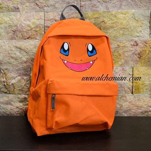 Charmander, orange bestickter Rucksack, Pokemon Pokémon