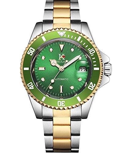 AOKULASIC Herren-Armbanduhr, automatisch, selbstaufziehend, mit klassischer Datumsanzeige, 30 m, wasserdicht
