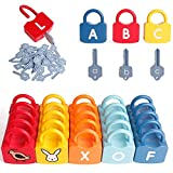 ABC Children's Learning Lock Educational Alphabet Set, Suitable for Early Childhood Education Toys for Toddlers, with 26 Locks and 26 Keys, Preschool Alphabet Learning Games for 3 Years Old and Above