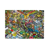 Jigsaw Puzzles for Adults 500 Piece Puzzles Cool Street Challenging Large Piece Funny Difficult Puzzle for Adults Family Decoration Puzzle Games (20.4 x 15 in)