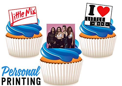 PP - Kleine Mix Pop Band Nieuwe Trio Mix 12 Eetbare Stand up Premium Wafer Card Cake Toppers Decoraties