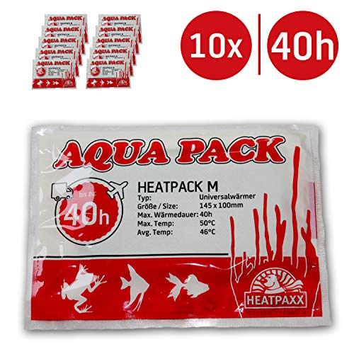 HeatPaxx Universalwärmer | HeatPack M 40h | AquaPack | Transportwärmer | Tier- & Pflanzenversand | 10 cm x 13 cm | 40 Stunden Wärmedauer (10)