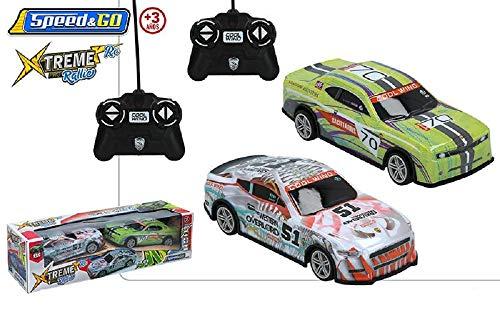 Color Baby- Set 2 coches radiocontrol (CB 43847) , color/modelo surtido