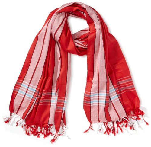 Kikoyland - Echarpe - Mixte - Rouge (Red) - One Size (Taille fabricant: one size (OS)