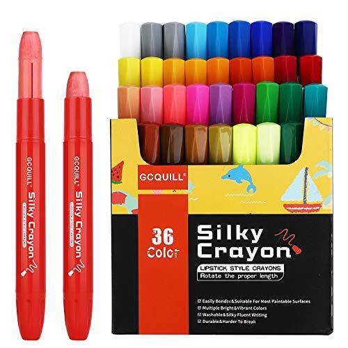36 Farben rotierende seidige wachsmalstifte, ungiftig, waschbare wachsmalstifte Set für Kinder zum Färben, Gesichts- und Körpermalerei GC-C-36