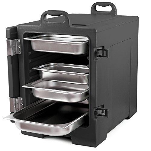 Zelsius Thermo Transportbehälter | Thermobox für 1/1 GN Gastronorm Behälter | Transportbox für Gastronomie, Party, Event, Catering, Bankett und mehr (Schwarz)