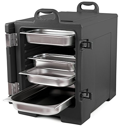 Zelsius Thermo Transportbehälter | Thermobox für 1/1 GN Gastronorm Behälter | Transportbox für Gastronomie, Party, Event, Catering, Bankett und mehr (Schwarz)