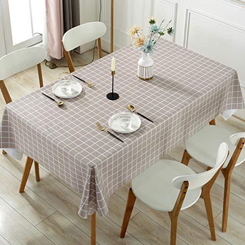 Kuingbhn Mantel Mesa Rectangular Decorativo Resistente Al Desgaste No Es Fácil de Desvanecer Impermeable Manteles Cocina Rejilla de Café Ligera 120×180cm