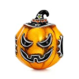 NINAQUEEN Halloween Pumpkin Charms Fits Charms Bracelets Sterling Silver Bead Birthday Valentines Mothers Day Christmas Gifts for Women Her Wife Mom Girls Girlfriend Jack-o'-lantern