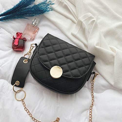 Yidajiu nieuwe mode solide kleur poort wind retro zadeltas textuur eenvoudige schouder schoudertas ketting Rhombisch