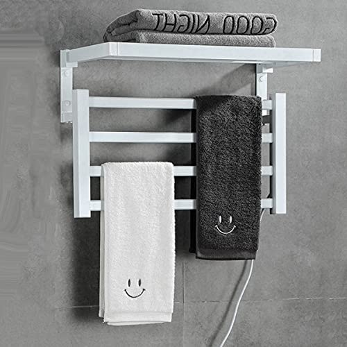 Elektrischer Handtuchhalter, hochtemperaturwiderstandsfähiger Handtuchhalter aus Aluminium, intelligenter Handtuchhalter mit konstanter Temperatur, zusätzliche Badezimmerheizung,A2