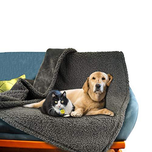 HANTAJANSS Waterproof Dog Blanket - Premium Waterproof Cat & Dog Blanket, Soft Reversible Furniture Protector Cover for Sofa, Bed, Couch, Pet Plush Throw Blanket