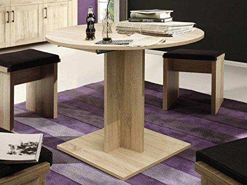 möbelando Esszimmertisch Esstisch Küchentisch SpeisentischTisch Holztisch Judd I Eiche sägerau
