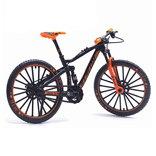 Finger Mountain Bike, 1:10 Scale Metal Bike Model Cycling Diecast Toy Desk Craft Collection