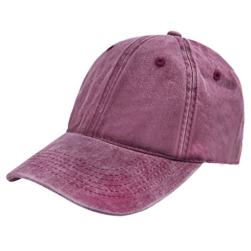 Vintage algodón gorra de béisbol Unisex ajustable bajo perfil ojales Trucker gorro...
