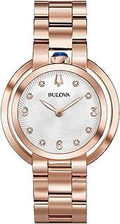 Bulova Women's Quartz Watch Metal Bracelet analog Display and Stainless Steel Strap, 97P130