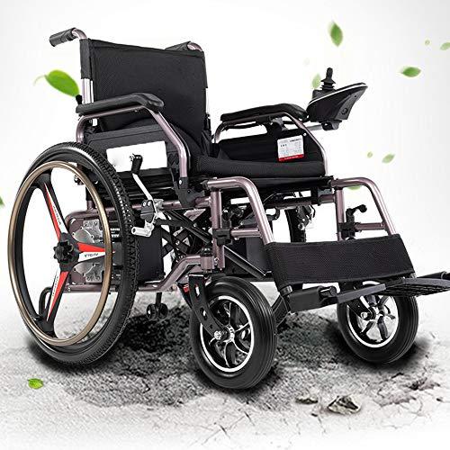 Chnzyr Klapprollstuhl Elektrisch Ultraleichter Faltbarer Elektrischer Rollstuhl, Intelligente Automatische, Frei-Reiten, Elektro-Rollstuhl Mit Lithium Batterien,A