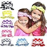 Gzhuang Niedliches Haarband für Babys, Mädchen, aus Baumwolle, elastisch, Knotenaufdruck