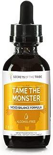 Tame The Monster Alcohol-Free Extract, Tincture, Glycerite Ashwagandha,St. John's Wort, Eleuthero Siberian Ginseng, Ginkgo, Valerian, Mucuna. Mood Balance Formula (2 FL OZ)