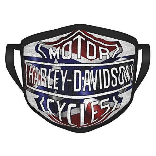 Harley Davidson, passamontagna riutilizzabile, lavabile, per uso esterno, con mascherina per naso e bocca, alla moda, unisex e donna