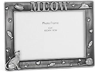 WNGGADH Cadre photo pour chien en alliage argenté vieilli - Souvenir de chat et de chien - Décoration de la maison