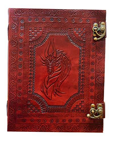 Kooly Zen Notizblock, Tagebuch, Buch, echtes Leder, Vintage, Drachenkopf, keltisch,...