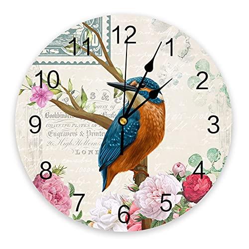 Tbqevc Reloj de Pared Decoración para el hogar Habitación para Adolescentes Reloj de Mesa de Pared con Aguja de 12 Pulgadas