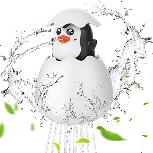 HellDoler Badespielzeug,Schwimmendes Sprühers Ei Wasserspray Kleinkind Spielzeug Spaß Ei Wasser Badewanne Pool Spielzeug für Kleinkinder,Kinder