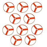 Zoom-O Flying Disc Launcher Disc Refill Pack | Set of 10 Extra Disc Replacements for Zoom-O Disc Launchers | 10 Discs Only