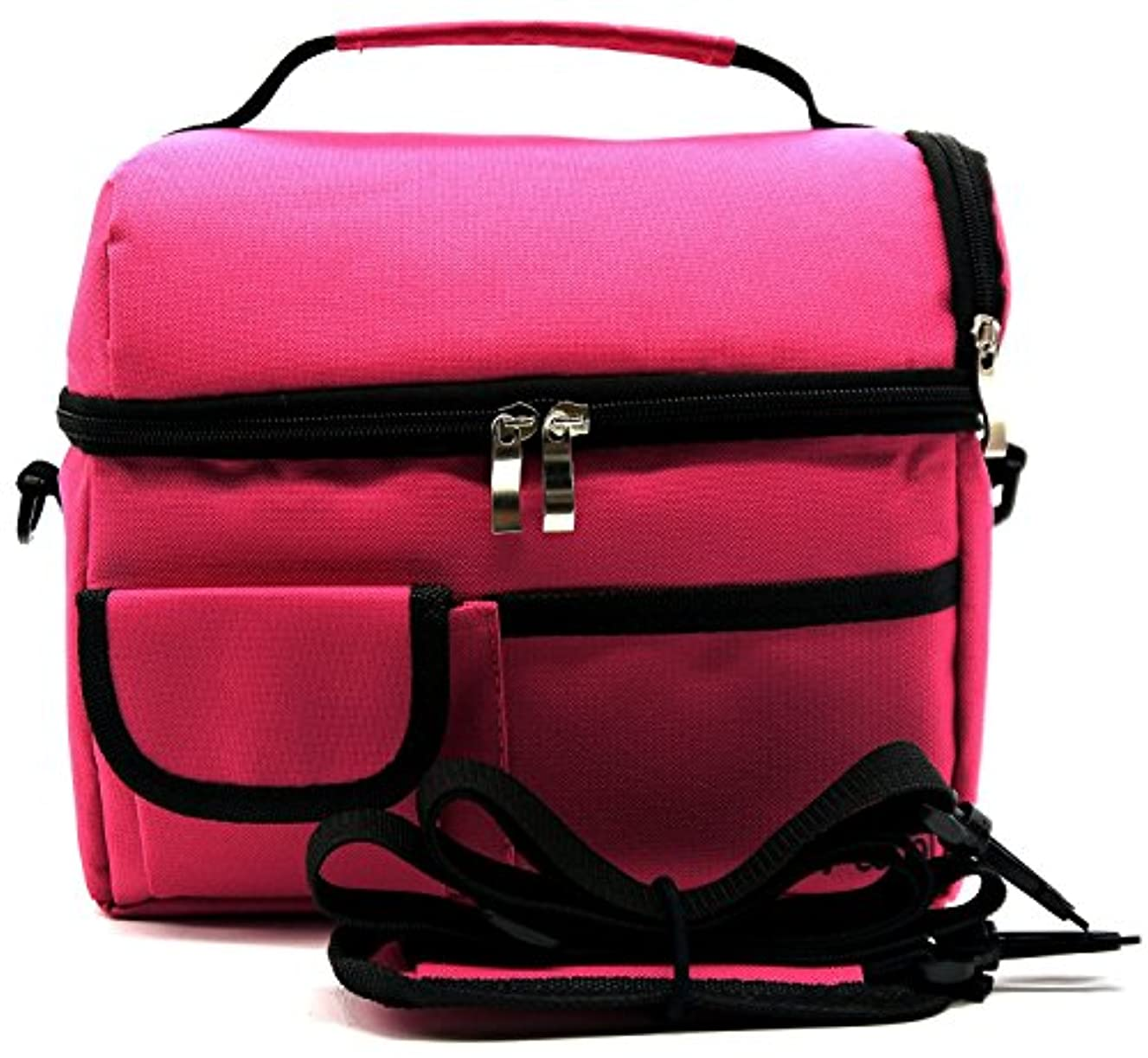ReaLegend Lunch Bag Cooler Carry Bag Insulated Tote Large Capacity with Adjustable Shoulder Strap Allerbaby Bento Box Bag Travel Lunch Tote - Rose