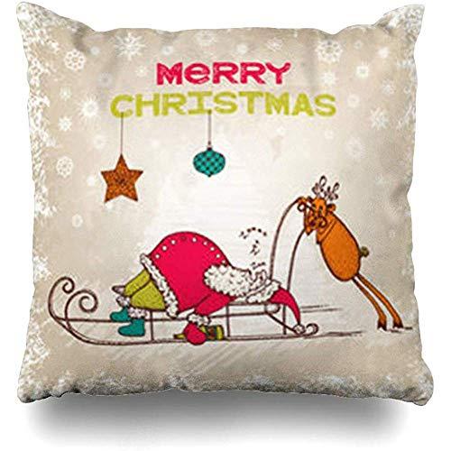 Stripper Red Drunk Funny Christmas Celebration Holidays Santa Sleep Adult Nightclub Pillowcase Decorative Pillow Standard Cushion Cover Gift 18 X 18 Inch