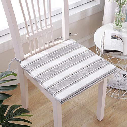 Soft Cotton Stoel Van De Tuin Kussen, Zitkussens Stripes Met Zip Ties Gewatteerde 3 Cm Dik Voor Outdoor Kitchen Garden