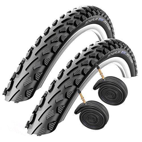 SCHWALBE Land Cruiser 700 x 35c Hybrid Bike Tyres with Presta Tubes (Pair)