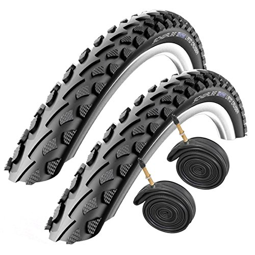 SCHWALBE Land Cruiser 700 x 35c Hybrid Bike Tyres with Presta Tubes (Pair)