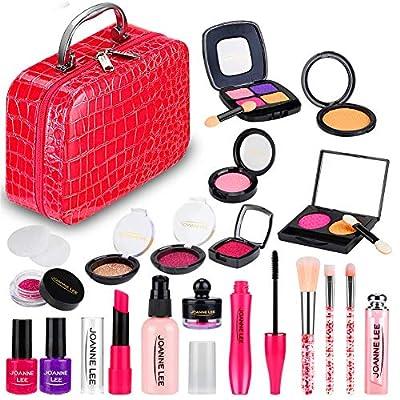 Amazon - Save 5%: JURSTON Kids Pretend Makeup for Girls,Play Makeup Kit Set for Toddl…