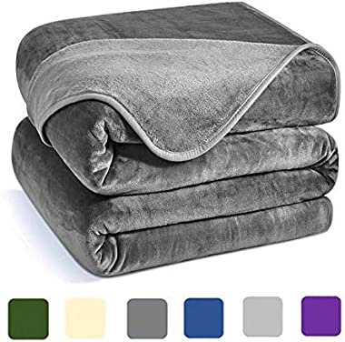 Charm Heart Luxury Fleece Blanket,Winter 350GSM Blanket Super Soft Warm Thick Blanket for Home Bed Blankets King Size, Dark G