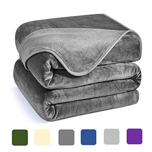 Charm Heart Luxury Fleece Blanket,Winter 350GSM Blanket Super Soft Warm Thick Blanket for Home Bed Blankets King Size, Dark Grey 90×108 in