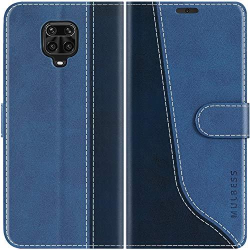Mulbess Handyhülle für Xiaomi Redmi Note 9s Hülle, Handy Xiaomi Redmi Note 9 Pro Hülle, Leder Flip Etui Handytasche Schutzhülle für Xiaomi Redmi Note 9s / Note 9 Pro Hülle, Diamant Blau