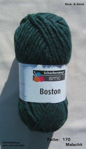 Schachenmayr Wolle Boston, 50g, mit Schurwolle, Fb. 170 Malachit grün