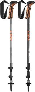 LEKI unisex – vuxna Khumbu Lite som vandringsstrumpor, orange-vit, en storlek