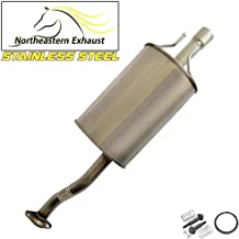 Stainless Steel Exhaust Muffler Tailpipe fits: 2006-2011 Honda Civic 1.3L 1.8L